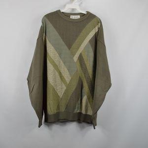 Vintage St Croix Mens Large Crewneck Sweater Green